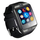 Q18 MTK6261D Smart Watch w/ Built-in Facebook WhatsApp -Black