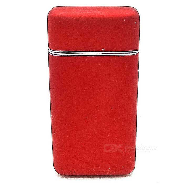 Buy Untra Thin Windproof Refillable Butane Gas Metal Lighter - Red with Litecoins with Free Shipping on Gipsybee.com