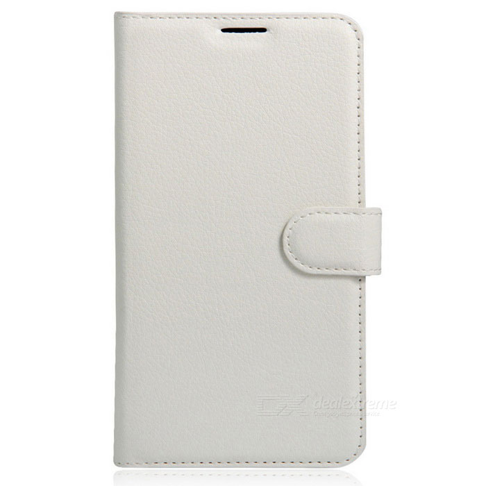 Flip Open Back Full Body Case w/ Stand for DOOGEE DOOGEE Y6 - WhitePhone Wallets<br>Form  ColorWhiteModelN/AMaterialPUQuantity1 DX.PCM.Model.AttributeModel.UnitShade Of ColorWhiteCompatible ModelsDOOGEE Y6FeaturesHolder functionPacking List1 * Case<br>