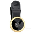 3-in-1 Wide Angle + Fish Eye + Macro Lens for IPHONE w/ Clip - Golden