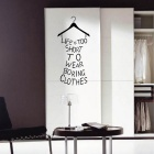 English Words + Rack PVC Wall Sticker for Home Decoration - Black