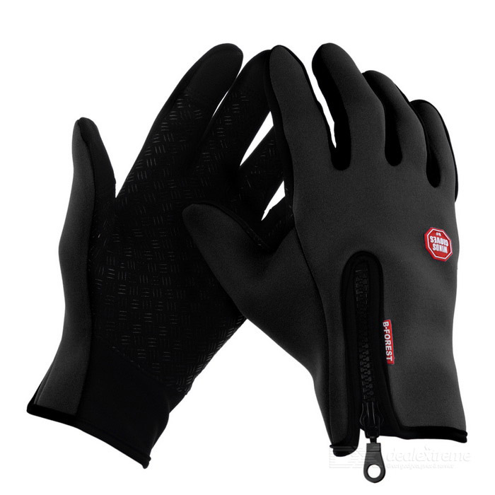 Buy Neoprene Touch Screen Windproof Outdoor Sport Full-Finger Gloves with Litecoins with Free Shipping on Gipsybee.com
