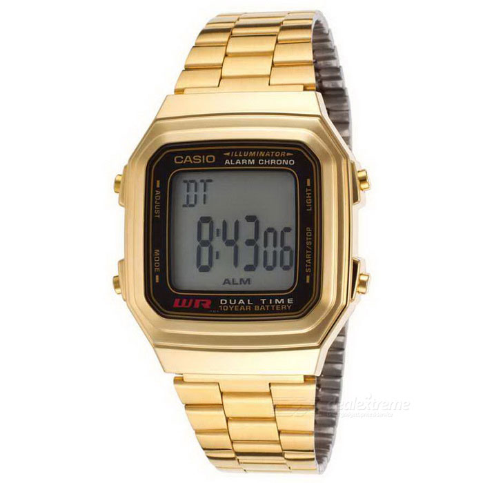 1af81aa7e6c Casio A178WGA-1ADF Unisex Classic Digital Watch - Golden + Black ...