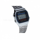 Casio A168WA-1WDF Digital Alarm Watch - Silver + Black (Without Box)