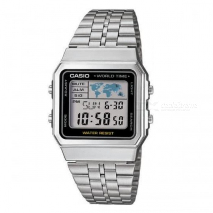 Casio A500WA-1DF Classic Digital Watch - Silver + Black (Without Box) for sale for the best price on Gipsybee.com.