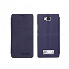 OCUBE PU + PC Case for Cubot Echo Mobile Phone - Deep Blue