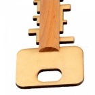 Woodiness Puzzle Relieve Pressure Lock Toy - Pale Yellow