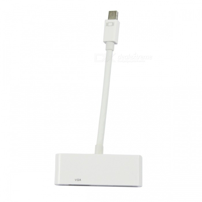 BSTUO 2 in 1 Mini DisplayPort to VGA HDMI Adapter - White