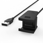 CY GT-219 USB Wire Charging Cable for Fitbit Charge 2 - Black (50cm)