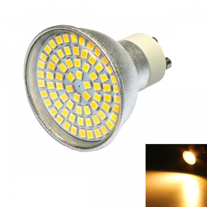 GU10 5W 2835 SMD 72-LED Warm White Energy Saving Lamp / SpotlightGU10<br>Color BINWarm WhiteModelGU10MaterialAluminumForm  ColorSilverQuantity1 DX.PCM.Model.AttributeModel.UnitPower5WRated VoltageAC 220-240 DX.PCM.Model.AttributeModel.UnitConnector TypeGU10Theoretical Lumens500 DX.PCM.Model.AttributeModel.UnitActual Lumens400--500 DX.PCM.Model.AttributeModel.UnitEmitter TypeOthers,2835 SMDTotal Emitters72Color Temperature3000KDimmableNoBeam Angle120 DX.PCM.Model.AttributeModel.UnitPacking List1 * LED Lamp<br>