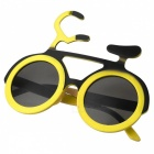 Eastor Funny Bicycle Style Party Glasses for Children - Yellow + Black