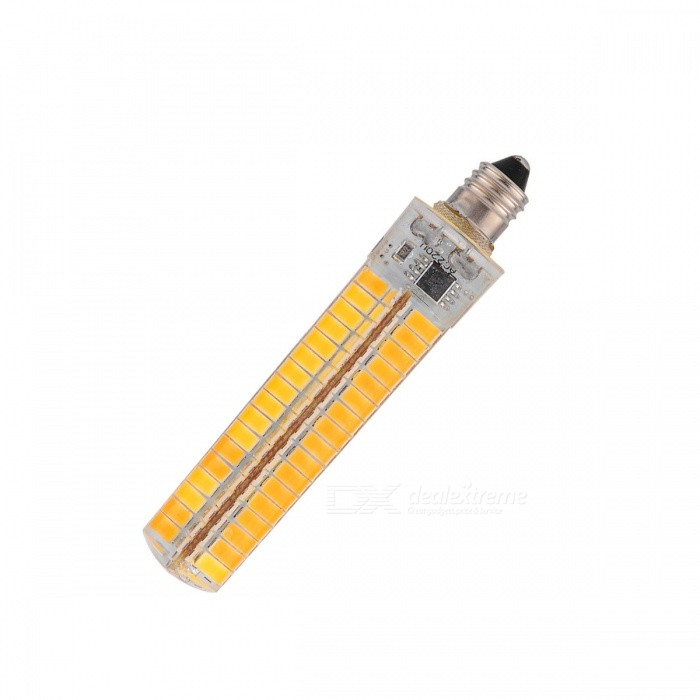 YWXLight E11 7W 136-SMD5730 LED Warm White Light Dimmable Corn LampOther Connector Bulbs<br>Color BINWarm WhiteMaterialSiliconeForm  ColorWhite + Yellow + Multi-ColoredQuantity1 DX.PCM.Model.AttributeModel.UnitPower7WRated VoltageAC 110 DX.PCM.Model.AttributeModel.UnitConnector TypeOthers,E11Chip Type5730Emitter TypeLEDTotal Emitters136Theoretical Lumens5000 DX.PCM.Model.AttributeModel.UnitActual Lumens1200~1400 DX.PCM.Model.AttributeModel.UnitColor Temperature3000KDimmableYesBeam Angle360 DX.PCM.Model.AttributeModel.UnitPacking List1 * Light lamp<br>