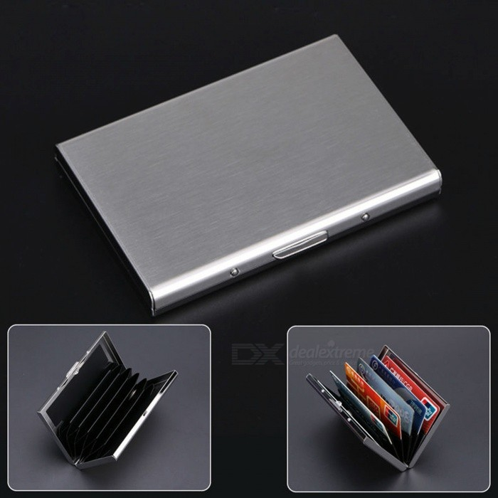 Stainless Steel Cards Holder Box for ID / Bank / Credit Card