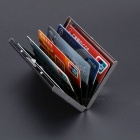 Stainless Steel Cards Holder Box for ID / Bank / Credit Card - Silver