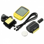 SUNDING SD-563C Wireless Bike Computer w/ Remote Control Set - Yellow