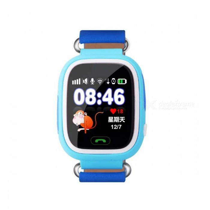 1.22 Touch Screen GPS Tracking GSM Smart Watch for Children - BlueSmart Watches<br>Form  ColorBlueQuantity1 DX.PCM.Model.AttributeModel.UnitMaterialABSShade Of ColorBlueCPU Processor-Screen Size1.22 DX.PCM.Model.AttributeModel.UnitScreen Resolution240 * 320Touch Screen TypeCapacitive ScreenNetwork Type2GCellularGSMBluetooth VersionNoCompatible OSAndroid and iOS SOSLanguageEnglishWristband Length14.2 DX.PCM.Model.AttributeModel.UnitWater-proofYesBattery ModeNon-removableBattery TypeLi-polymer batteryBattery Capacity400ma DX.PCM.Model.AttributeModel.UnitStandby Time50 DX.PCM.Model.AttributeModel.UnitPacking List1 * GPS smart watch1 * USB cable (15cm)1 * User manual<br>