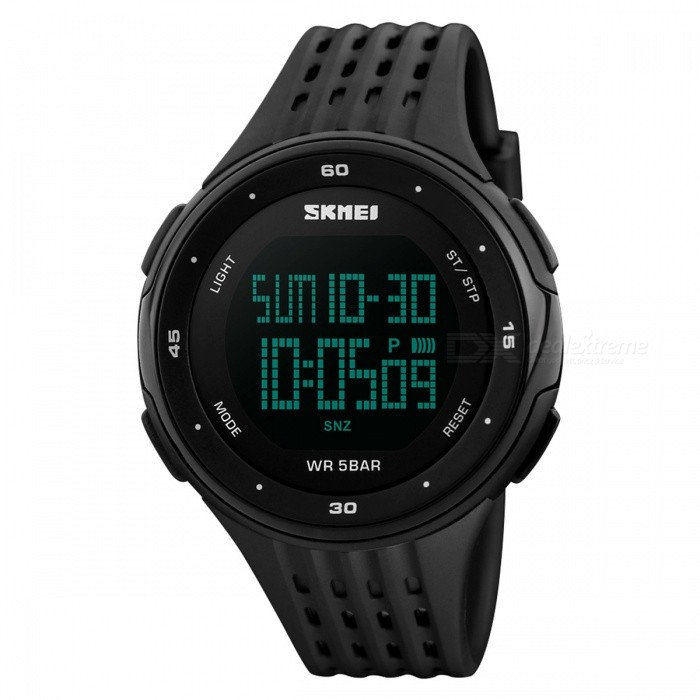 SKMEI 1219 PC + PU Band Digital Men Watch for Outdoor Sport - Black for sale for the best price on Gipsybee.com.