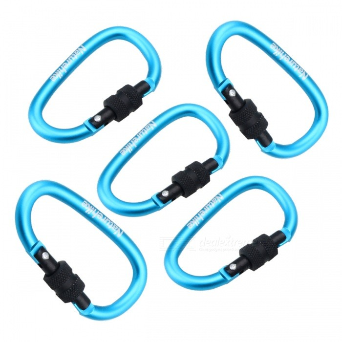 NatureHike 8cm Type-D Alloy Quick Release Buckle - Blue (5 PCS)Form  ColorBlue + Black (5 PCS)ModelNH15A008-DQuantity1 DX.PCM.Model.AttributeModel.UnitMaterialaluminium alloyBest UseFamily &amp; car camping,Travel,CyclingCarabiner typeLocking carabinerWeight Limit25 DX.PCM.Model.AttributeModel.UnitLength8 DX.PCM.Model.AttributeModel.UnitSizeFree SizeTypeBackpack Accessories,Tactical BackpacksPacking List5 * Mountaineering buckles<br>
