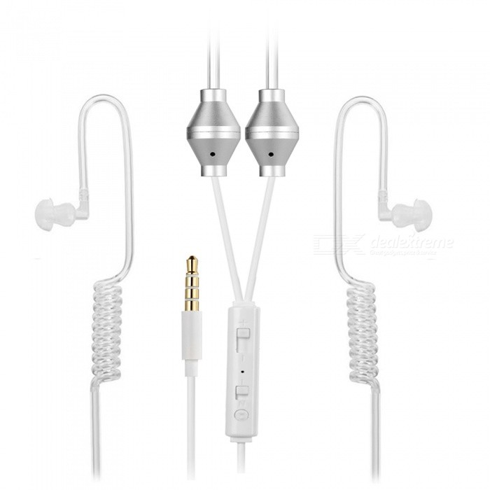 Cwxuan Sound Conduction Acoustic Air Tube Earphone w/ Mic