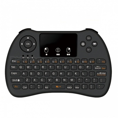 BLCR H9 Mini 2.4GHz Wireless 92-Key Keyboard w/ Touchpad - Black