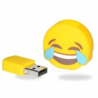 Emoji Face with Tears of Joy 8GB USB2.0 Flash - Yellow + Blue
