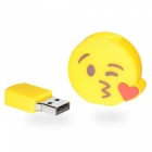 Emoji Face Throwing a Kiss 4GB USB2.0 Flash - Yellow + Red