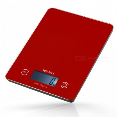 5Kg /1g Touch Screen LCD Backlight Digital Kitchen Food Scale - Red