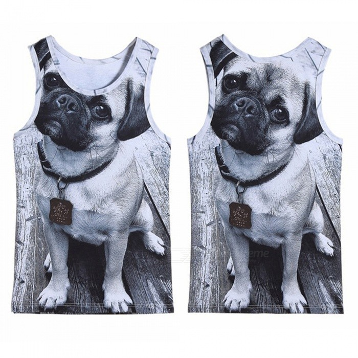 3D Three-Dimensional Dog Pattern Printed Mens Sport Vest (Size: L)Tees<br>Form  ColorGreySizeLQuantity1 DX.PCM.Model.AttributeModel.UnitShade Of ColorGrayMaterialPolyester perishShoulder Width36~37 DX.PCM.Model.AttributeModel.UnitChest Girth48~50 DX.PCM.Model.AttributeModel.UnitSleeve Length0 DX.PCM.Model.AttributeModel.UnitTotal Length68 DX.PCM.Model.AttributeModel.UnitSuitable for Height168~175 DX.PCM.Model.AttributeModel.UnitPacking List1 * Vest<br>