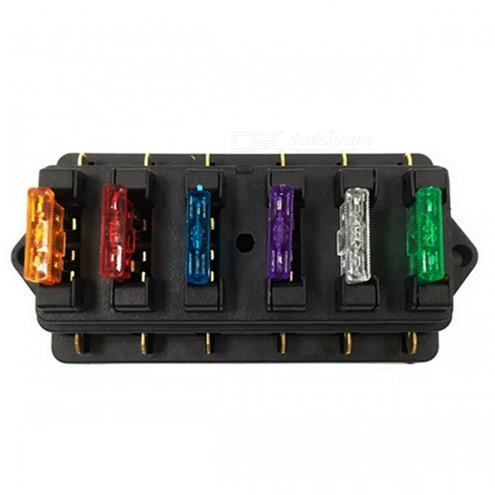 IZTOSS 6 Way Car Truck Boat Ciruit Standard Blade Fuse Box Holder Set