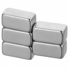 JEDX forte rectangle en forme d'aimants ndfeb - argent (5PCS)