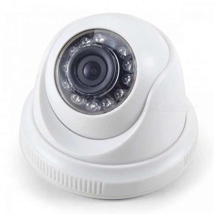 Cotier 1080P CCTV Security Camera w/ 12-LED IR Night Vision - White