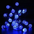Joyshine 50-LED Solar Ball Shaped Christmas Blue String Lights