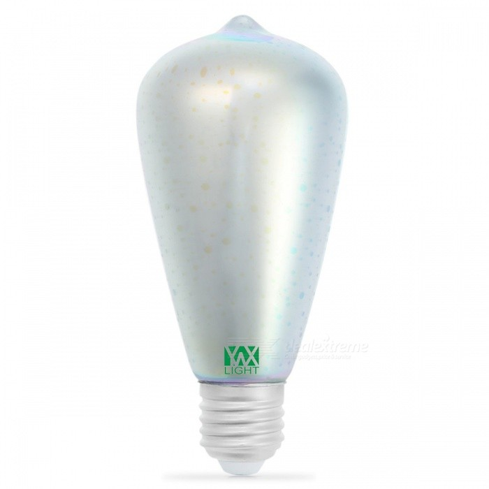 Ywxlight ST64 E27 5W 48-COB feux d'artifice 3D effet ampoule LED