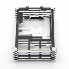 Black Sliced 9 Layers ABS Case for Raspberry Pi 3 / 2 Model B