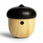 Miimall MJ2 Rechargeable Mini Wooden Bluetooth Speaker - Brown + Black