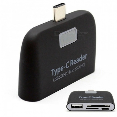 Kitbon USB 3.1 Type-C, USB SD(HC), Micro SD(HC) TF Card Reader Adapter