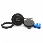 Eastor 4.2A (2.1A + 2.1A) Dual USB Ports Car Charger - Blue Light