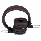 REMAX RM-100H 3.5mm enchufe hifi con cable auricular w / mic - marrón