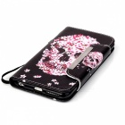 BLCR 3D Skull Pattern Flip-Open Leather Wallet Case for IPHONE 6 / 6S