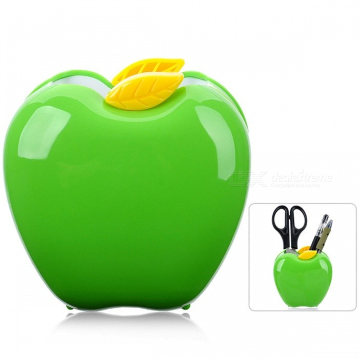 Fashionable Apple Shape Pen Container Holder - Green