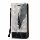 BLCR 3D Embossed Feathers Pattern Magnetic Case for IPHONE SE / 5S / 5