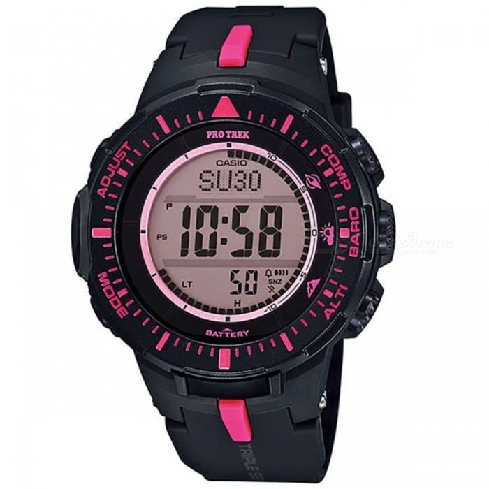 Casio ProTrek PRG-300-1A4DR Digital Watch -Black + Deep Pink (w/o Box)