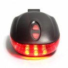 ROBESBON 5-LED Red Light Bicycle Tail Warning Safety Light - Black