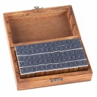 MAIKOU-Retro-Numbers-Letters-Wood-Stamps-w-Box-Dark-Brown-(70PCS)