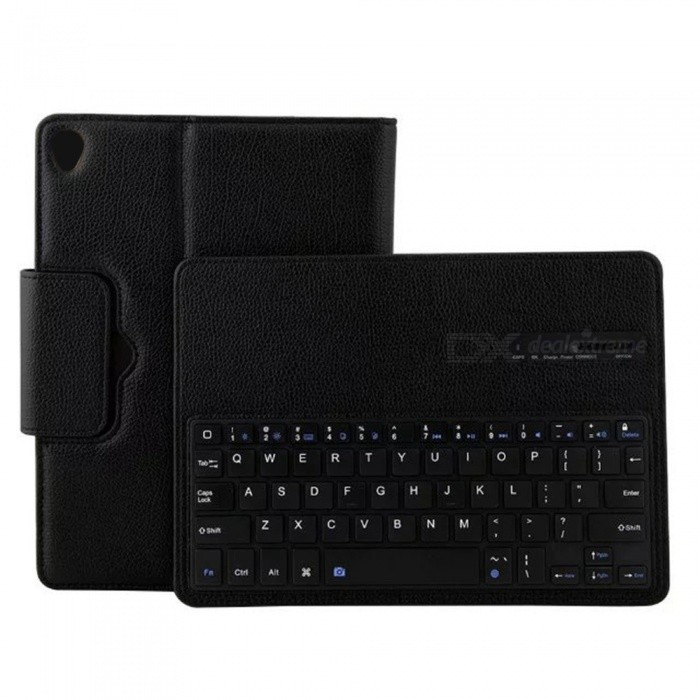 Miimall P1318 Folding Leather Folio Cover Bluetooth Keyboard