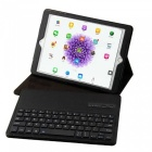 Miimall P1318 Folding Leather Folio Cover Bluetooth Keyboard - Black