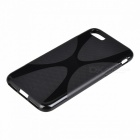 """X"" Pattern Protective TPU Back Case for IPHONE 7 4.7 Inch - Black"