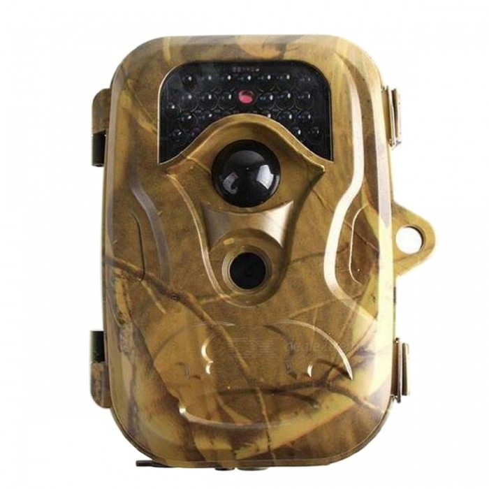 T660 2.5 CMOS HD Infrared Monitoring Hunting Camera w/ Remote ControlCamcorders<br>Form  ColorDesert CamouflageModelT660Shade Of ColorYellowMaterialABSQuantity1 DX.PCM.Model.AttributeModel.UnitImage SensorOthers,CMOSImage Sensor SizeOthers,2.5 inchAnti-ShakeYesFocal Distance3.6 DX.PCM.Model.AttributeModel.UnitFocusing Range10~20mBuilt-in SpeedliteNoWide Angle60°Aperture11Effective Pixels1200dpiMax. Pixels12 millionPicture FormatsJPEGStill Image Resolution12MP = 4032 x 30248MP = 3264 x 2448<br>5MP = 2560?1920Video FormatAVIVideo Resolution640 x 480 (25fps)Video Frame Rate30Cycle RecordYesISO200Exposure Compensation3;-2Supports Card TypeSD,Others,SIMSupports Max. Capacity32 DX.PCM.Model.AttributeModel.UnitBuilt-in Memory / RAMNoInput InterfaceOthers,USBOutput InterfaceAVLCD ScreenYesScreen TypeOthers,LCDScreen Size2.5 DX.PCM.Model.AttributeModel.UnitScreen Resolution1080PBattery included or notNoBattery Measured Capacity 5200 DX.PCM.Model.AttributeModel.UnitNominal Capacity5200 DX.PCM.Model.AttributeModel.UnitBattery TypeAABattery Quantity4xAA / 8xAA DX.PCM.Model.AttributeModel.UnitVoltage6 DX.PCM.Model.AttributeModel.UnitBattery Charging Time4Low Battery AlertsYesWaterproofYesSupported LanguagesEnglish,Simplified ChineseOther FeaturesHorizontal resolution: 560 (TVL) minimum illumination of 0.005 (Lux) signal to noise ratio &gt; 48 (DB)<br><br>Operating temperature: -30~+70 (c)Packing List1 x Digital camera1 x Wireless remote control1 x TV line1 x USB line1 x Binding rope1 x Users Manual1 x Antenna<br>