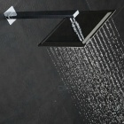"10"" Fashion Ultrathin 304 Stainless Steel Square Shower Head - Silver"