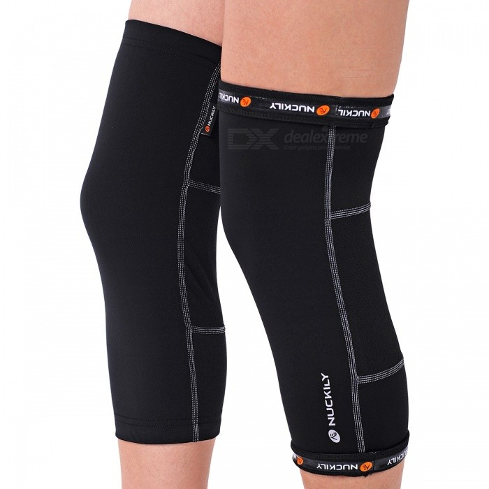 NUCKILY Legging Kneepads for Riding, Playing Basketball - Black (M)
